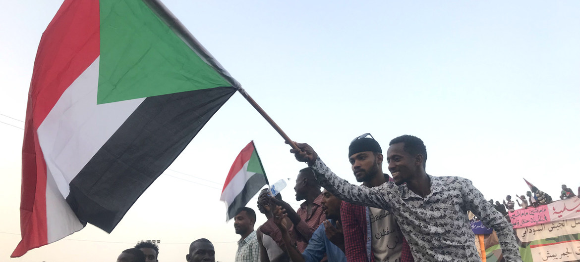 Protesters take to streets in the Sudanese capital, Khartoum.