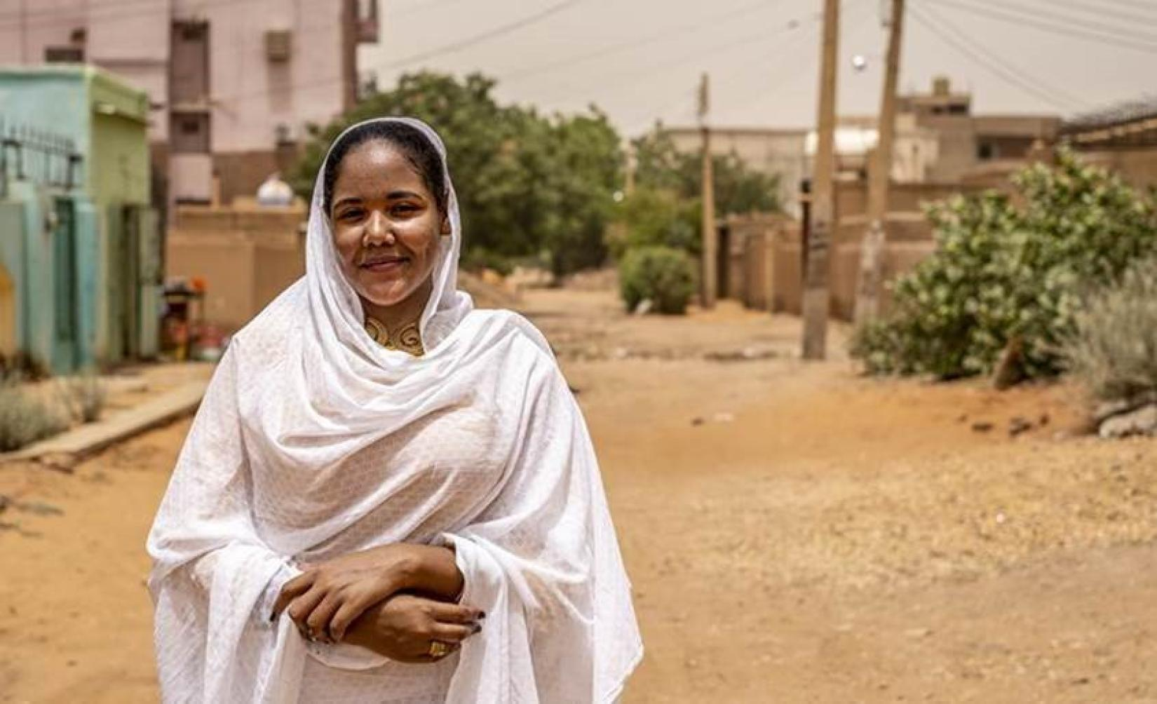 Roaa Bakri Bilal, women's rights activist and political hopeful, North Khartoum