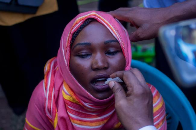 Launch of the oral cholera vaccination campaign